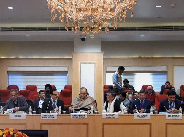 Union Minister for Finance and Corporate Affairs, Arun Jaitley chairing the ninth GST Council Meeting