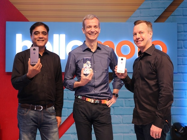Sudhin Mathur, Managing Director, Motorola Mobility India, Country Head, Lenovo MBG India; Jan Huckfeldt, Vice President, Global Marketing & Communications, Lenovo MBG and Motorola Mobility; Jim Thiede - Senior Director Product Marketing, Motorola Mo