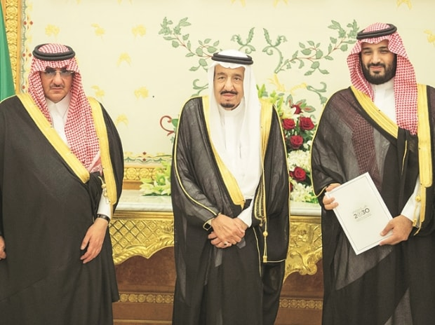 Saudi king names son as heir to throne