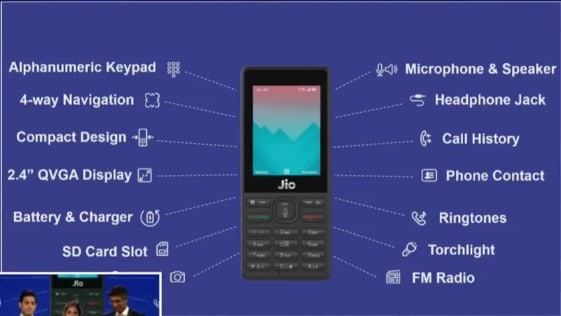 Reliance JioPhone  Photo: YouTube