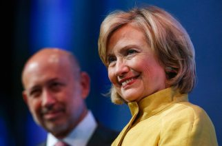 Hillary Clinton and Goldman Sachs CEO Lloyd Blankfein at the Clinton Global Initiative in 2014. (Reuters / Shannon Stapleton)