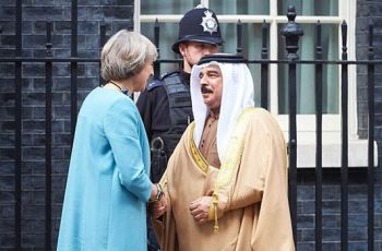 Theresa May discuessed international relations with the King of Bahrain