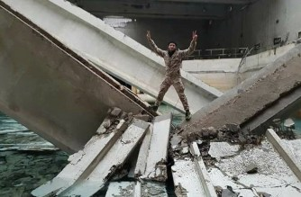 A terrorist from Wadi Barada, is bragging after bombing the external structure of the main water Spring that supplies Damascus with water