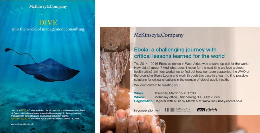 "BSNL Recommends: ""Two McKinsey Events – Apply now!"""