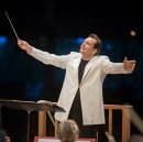 [Andris Nelsons at Tanglewood (Photo by Marco Borggreve)]