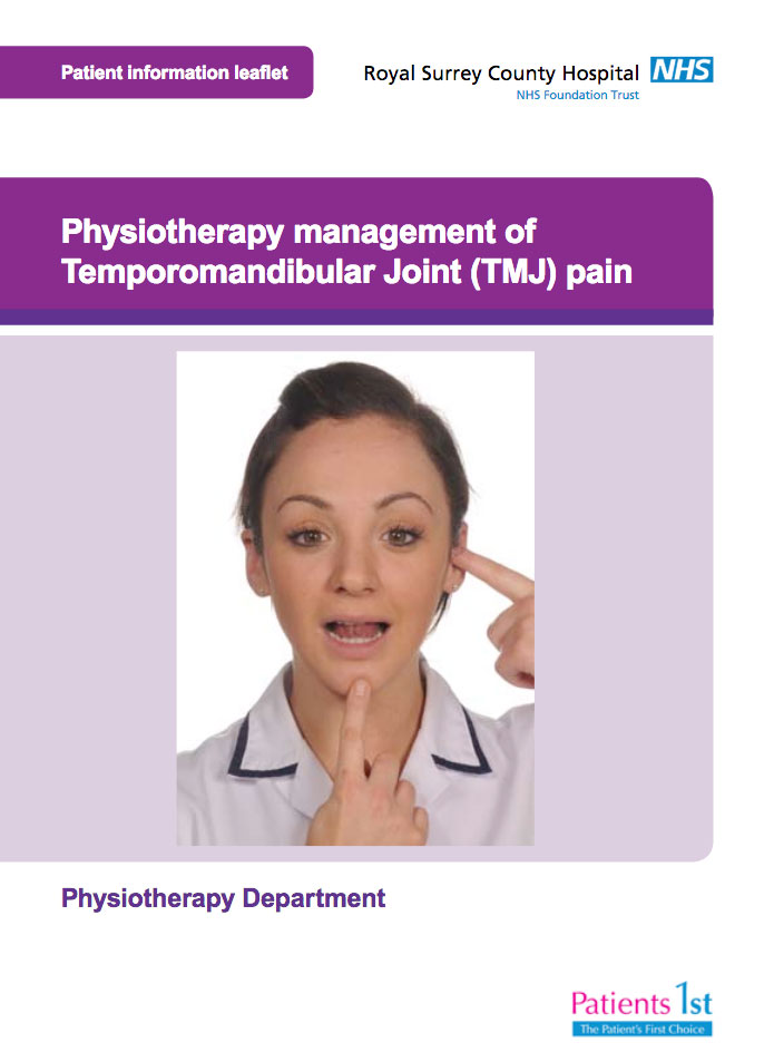 Physiotherapy management of Temporomandibular Joint (TMJ) pain