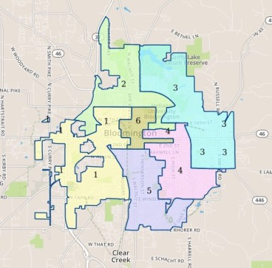 Bloomington District Map