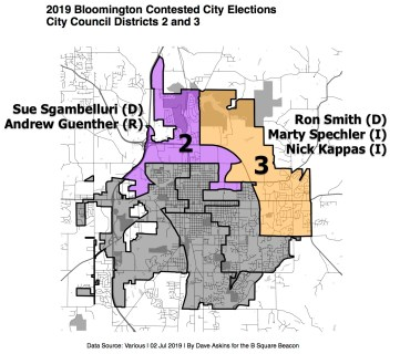 Labeled R Map 2019 Bloomington City ElectionsDistrictRepsxxxx