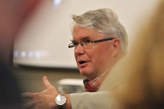 Bloomington's mayor John Hamilton
