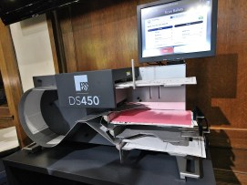 An optical scanner from ES&S. (Dave Askins/Beacon)