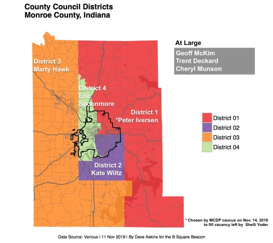 New map of county council representation in Monroe County.
