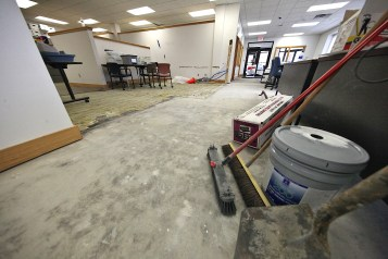 In this file photo from the third week of January 2020, Monroe County's Election Central space is shown as it undergoes renovation.