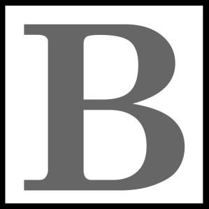 black b square logo icon