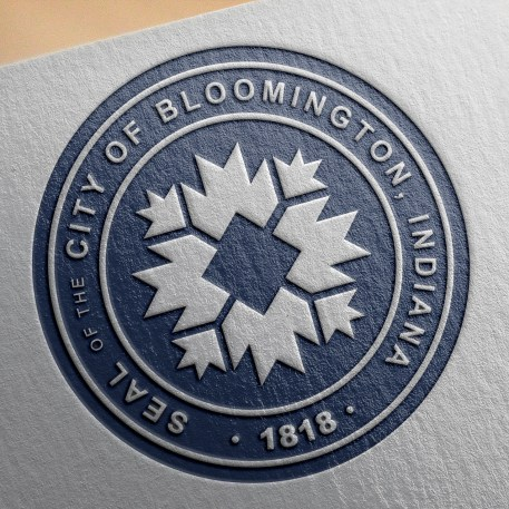 Embossed version of proposed new city seal for Bloomington.