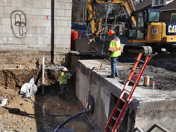 Hidden River Project March 1, 2021. Washington Street.