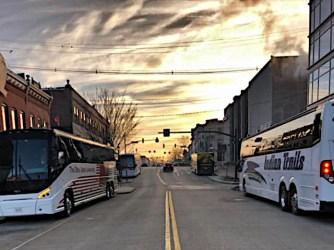 Courtesy photo of Kirkwood Avenue looking west from Walnut Street.