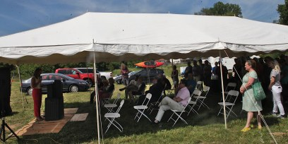 Groundbreaking for Habitat for Humanity's Osage Place at the end of Guy Avenue, June 14, 2021