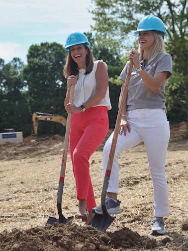 Habitat for Humanity president and CEO Wendi Goodlett and board chair Meredith Rogers.