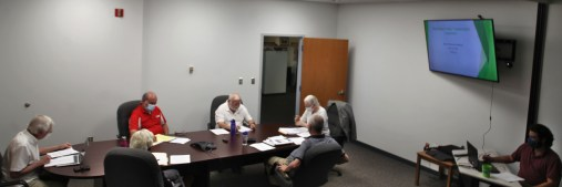 Conference room wide shot for Bloomington Transit board meeting on June 15, 2021.
