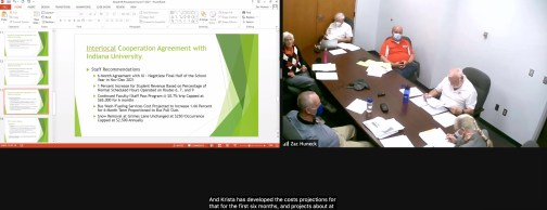 Screen shot of Zoom connection during the June 15, 2021 Bloomington Transit board meeting.