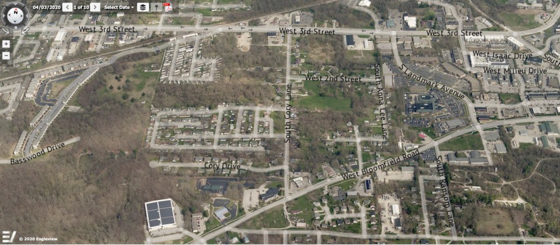 The aerial photo of Area 4 is from the Pictometry module of Monroe County's online property lookup system.