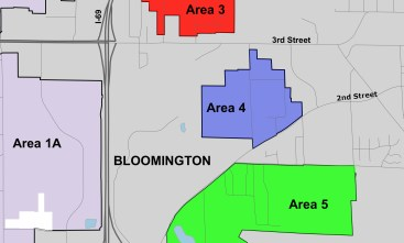 """Closeup map of so-called """"island"""" areas for annexation."""