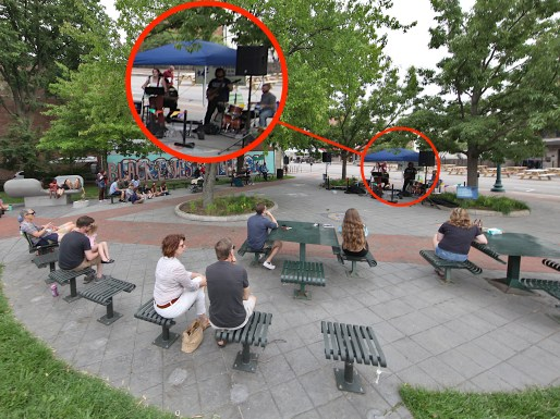 Performance by Sarah Cassidy, People's Park, Bloomington, Indiana (June, 24, 2021).
