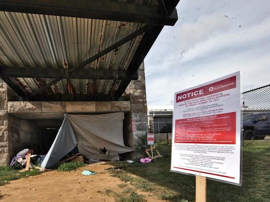 Under the B-Line Bridge at Grimes Lane (Aug. 17, 2021)