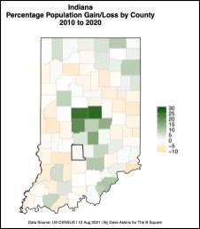 bordered R MAP population change 2010-2020PCTGAINLOSSxxxx