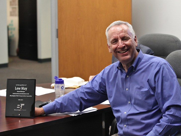 Lew May, outgoing Bloomington Transit general manager. (Sept. 21, 2021)