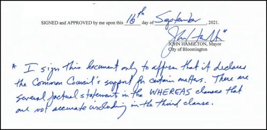2021 Hamilton signing note Screen Shot 2021-09-27 at 12.58.22 PM