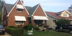 picture of a brick house that brightside restoration in medina ohio did home services to
