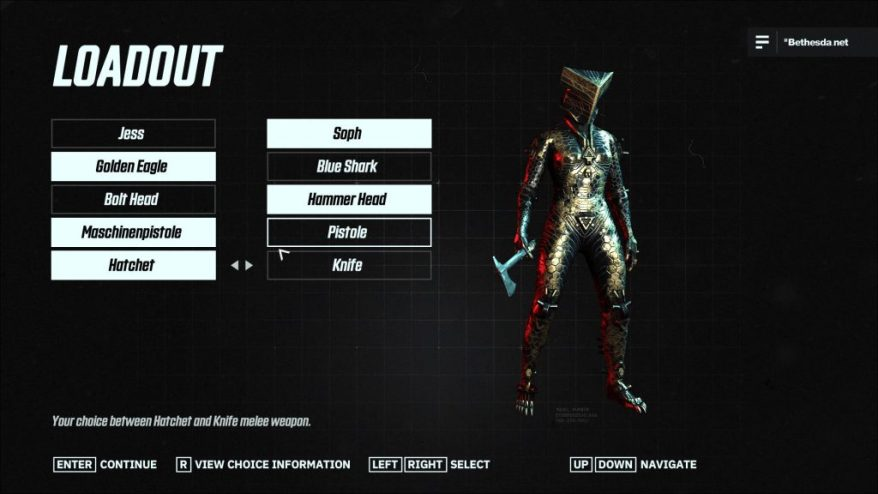 Character load out