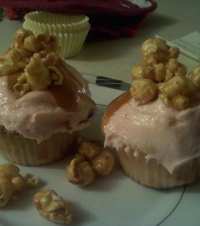 Caramel Popcorn Cupcakes Recipe