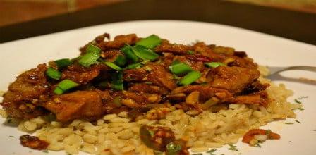 Honey Chipotle Seitan- Spicy Vegetarian Dish