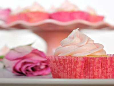 Rose Vanilla Bean Buttercream Cupcakes