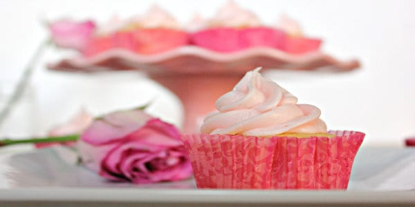 Rose Vanilla Bean Buttercream Cupcakes