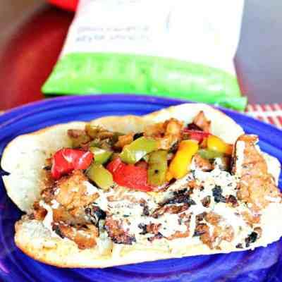 Vegan Cheese Steak Sandwich