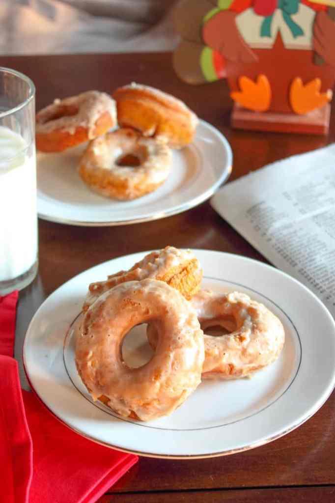 Maple Pumpkin Donuts