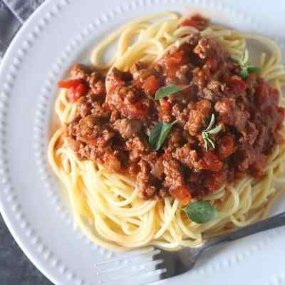 Homemade Spaghetti Meat Sauce Recipe