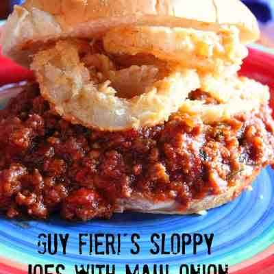 Guy Fieri's Sloppy Joes with Maui Onion Rings