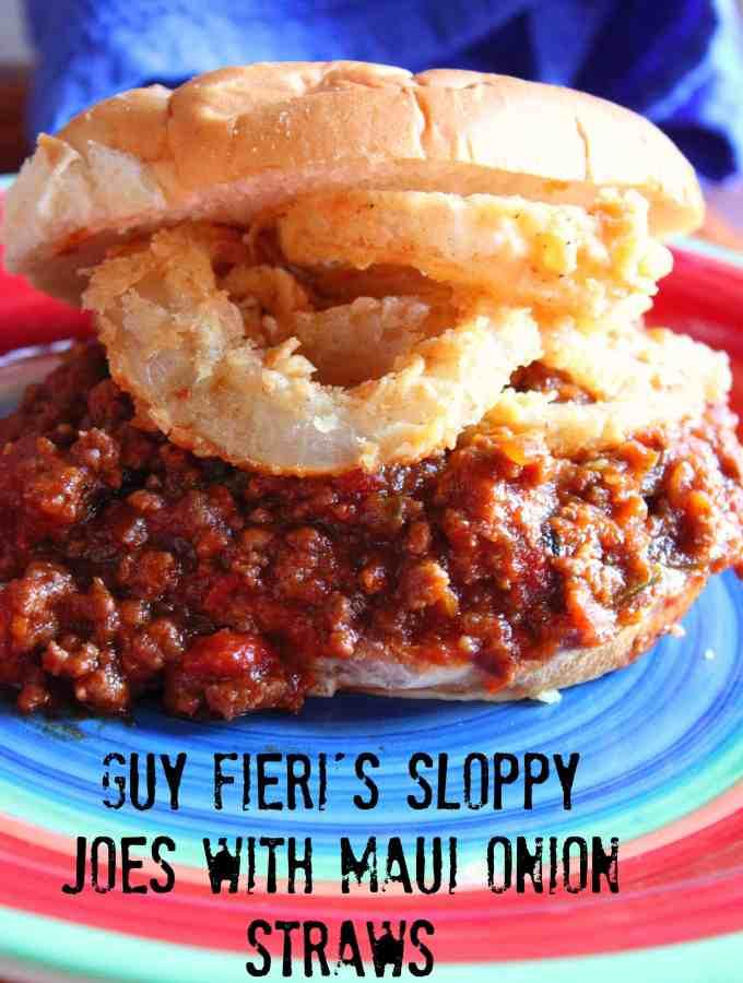 Guy Fieri's Sloppy Joes with Maui Onion Rings