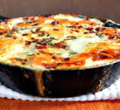 White Cheddar Cheese and Chive Scalloped Potatoes