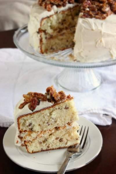 Pecan Praline Cake | Brown Sugar