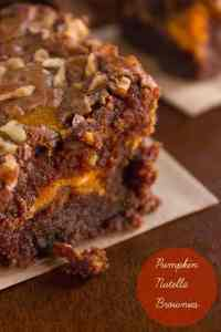 Nutella Pumpkin Brownies