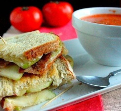 Apple and Bacon Grilled Cheese Sandwich