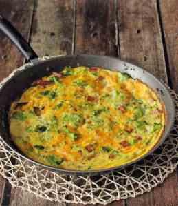 Broccoli Cheddar and Ham Frittata