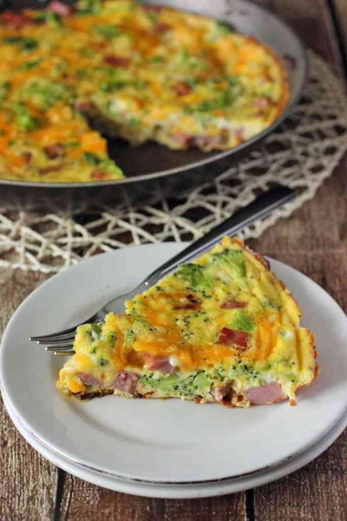 Broccoli Cheddar and Ham Frittata Recipe