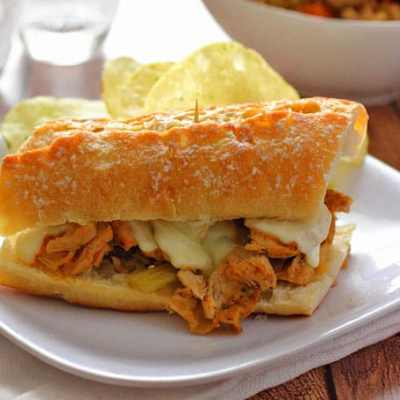 Slow Cooker Turkey French Dip Sandwiches