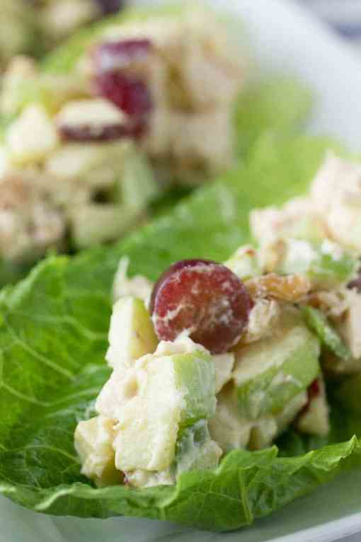 Chicken and Apple Salad Lettuce Cups